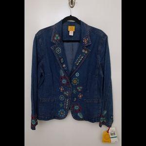 Ruby Rd. Denim Jacket Size 16 NWT